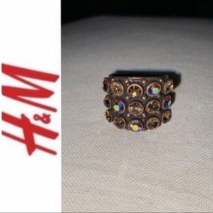 Gorgeous H&M Copper/Brown Sparkle STATEMENT Ring 7